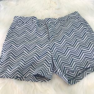 Banana Republic Chevron Print  Shorts